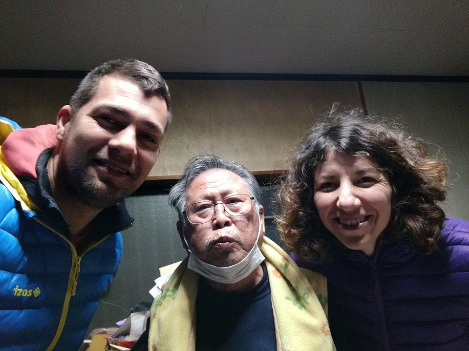 Goran i Maja sa domaćinom u Japanu